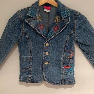 🐝2/$25 BARBIE Jeans jacket stretch Size 6